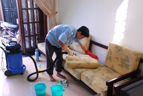 Dịch vụ giặt ghế văn phòng tại Bình Dương